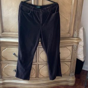 Brown velvet pants